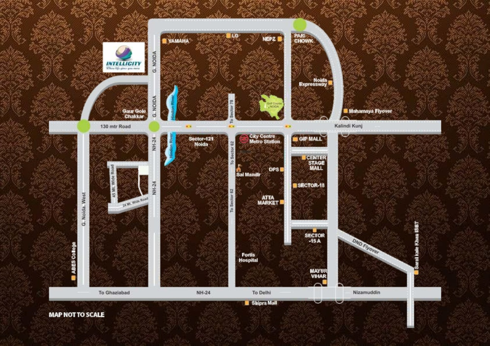 Intellicity Commercial Project Location Map